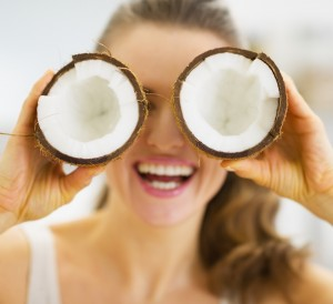 People-Mid-Aged-Woman-Having-Fun-With-Coconuts-Medium